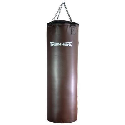 TrainHard-pro-sac-de-frappe-en-cuir-synthtique-100-x-33-cm-30-kg-avec-chane-en-acier-fonc-0