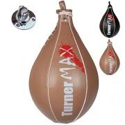 TurnerMAX-Bouclier-de-frappe-en-cuir-de-vache-de-combat-MMA-boxe-Speedball-Rouleau-de-gymnastique--bille-formation-de-Gel-0