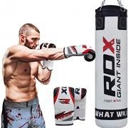 RDX-MMA-4FT-5FT-Sac-De-Frappe-Lourd-Mural-Set-De-Boxe-Rempli-Pied-Poing-Kickboxing-Cible-0-0