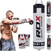 RDX-MMA-4FT-5FT-Sac-De-Frappe-Lourd-Mural-Set-De-Boxe-Rempli-Pied-Poing-Kickboxing-Cible-0