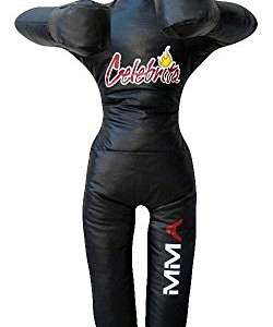 Celebrita-MMA-Sac-de-frappe-Grappling-Dummy-Debout-mains-sur-la-poitrine-MMA362-Vinyl-Black-70-Up-to-55kg121-lb-0