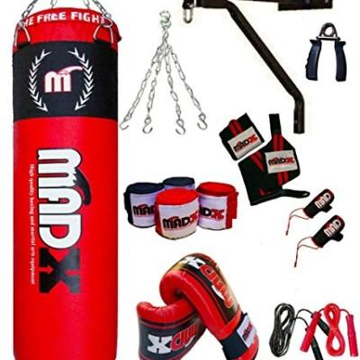 Madx-Kit-de-boxe-de-13-pices-avec-sac-de-frappe-garni-de-15-m-gants-chane-et-support-0