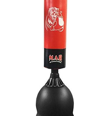 Sac-de-frappe-couleur-rougenoir-pour-Arts-martiaux-MMA-boxe-0