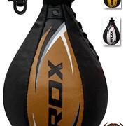RDX-Cuir-Boxe-Poire-De-Vitesse-Frappe-Entrainement-MMA-Speed-Bag-Muay-Thai-Punching-Ball-et-Pivotant-Rotule-Plafond-0