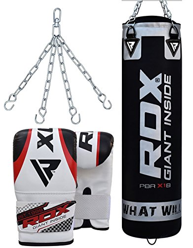 achat rdx sac de frappe rempli lourd punching ball mma muay thai kickboxing arts martiaux kit. Black Bedroom Furniture Sets. Home Design Ideas