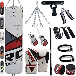 RDX-Sac-de-Frappe-Rempli-Lourd-Punching-Ball-Kickboxing-Muay-Thai-MMA-Kickboxing-Arts-Martiaux-Kit-Boxe-Avec-Gants-Chaine-Suspension-support-Plafond-Punching-Bag-0
