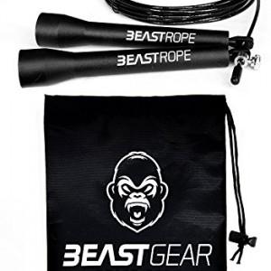 Corde--Sauter-Beast-Gear-Speed-Rope-Pour-Entranement-Crossfit-Fitness-Boxe-MMA-Gym-Accessoire-Cardio-Idal-pour-Maigrir-Brler-des-Calories-Se-Muscler-0