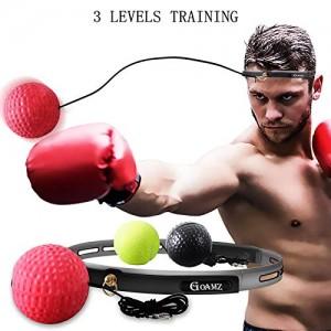 GOAMZ-Boxe-Balle-3-Diffrents-Boxing-Reflex-Ball-Bandeau-Ajustable-pour-Les-Ractions-de-Vitesse-dentranement-samliorent-La-Coordination-Main-il-pour-Les-Adultes-et-Les-Enfants-0