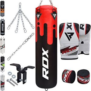 RDX-8PC-Sac-de-Frappe-Rempli-Lourd-MMA-Punching-Ball-Muay-Thai-Arts-Martiaux-Kickboxing-Kit-Boxe-avec-Gants-Chaine-Suspension-Support-Mural-Punching-Bag-0