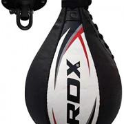 RDX-Vitesse-Ball-Cuir-Boxe-Poire-De-Frappe-Entrainement-MMA-Speed-Bag-Muay-Thai-Punching-Ball-et-Pivotant-Rotule-Plafond-0-0