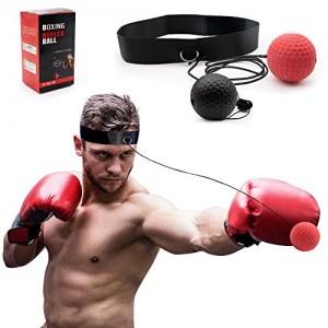 SPECOOL-Boxe-Rflexe-Ballon-de-CombatBalle-de-Combat-avec-Bandeau-de-Tte-Ballon-de-Boxe-pour-La-Formation-de-Vitesse-Rflexe-Punch-Exercice-Entranement-0