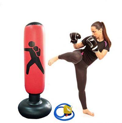Himifuture-Sac-de-frappe-autonome-gonflable-160-cm-avec-pompe–air–pied-rouge-vin-0