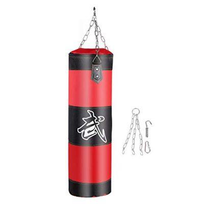 VGEBY1-Sac-de-Frappe-Sac-de-Boxe-Sac-de-Frappe-sans-Sables-Rempli-Lourd-Equipement-dEntranement-de-MMA-Muay-Thai-Kickboxing-Arts-Martiaux1-Rouge-0