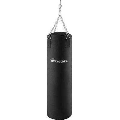 tectake-Sac-de-Boxe-Sac-de-Frappe-rempli-25kg–Suspension-par-chane-105cm-0