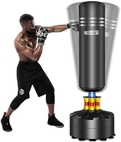 Dripex-Sac-de-Frappe-sur-Pied-Adulte-175-cm-Sac-de-Boxe-Lourd-pour-Taekwondo-avec-Base-en-ABS-12-Ventouses-Idal-Cadeau-dAdulte-ou-dAdolescent-Noir-0